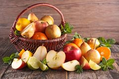 Composition with fresh fruits Stock Photography