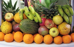Composition of fresh fruits Royalty Free Stock Photography