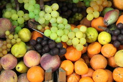 Composition of fresh fruits Stock Photos