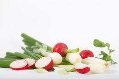Composition of fresh healthy various vegetables. Healthy vegetarian food Royalty Free Stock Photos