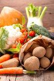 Composition with fresh vegetables Royalty Free Stock Photography