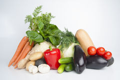 Composition of fresh vegetables. Stock Photo