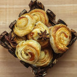 The composition of freshly baked pastry Royalty Free Stock Image