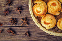 The composition of freshly baked pastry Royalty Free Stock Photo