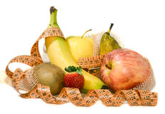 Composition of fruit, concept of balanced diet Royalty Free Stock Images