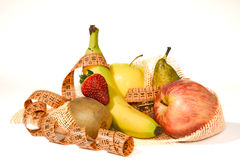 Composition of fruit, concept of balanced diet Stock Images