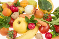 Composition of fruit and vegetables Stock Photos