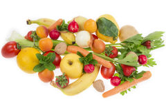Composition of fruit and vegetables Royalty Free Stock Images