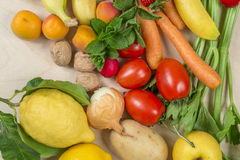 Composition of fruit and vegetables Stock Image