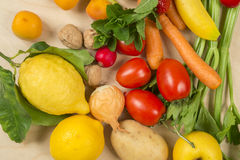 Composition of fruit and vegetables Royalty Free Stock Photography