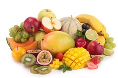 Composition of fruit Stock Photos