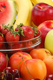 Composition with fruits. With visible drops of water Stock Images