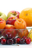 Composition with fruits. With visible drops of water Stock Photo