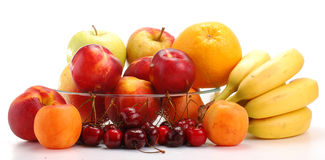 Composition with fruits. Isolated on white background Royalty Free Stock Image