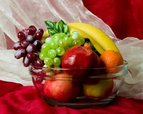 Composition with fruits on vase Stock Photo