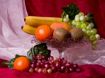 Composition with fruits on vase Stock Image