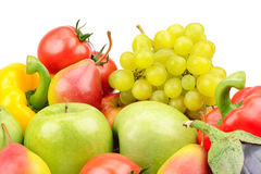 Composition of fruits and vegetables Royalty Free Stock Photo