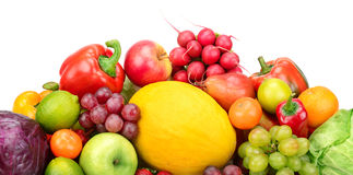 Composition of fruits and vegetables Royalty Free Stock Images