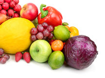 Composition of fruits and vegetables Stock Photos