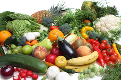 Composition of fruits and vegetables Stock Image
