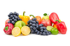 Composition of fruits and vegetables Stock Photo
