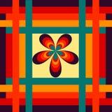 Composition géométrique dans des couleurs de vintage illustration libre de droits