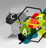 composition géométrique en hexagone 3d, fond abstrait numérique géométrique Image libre de droits