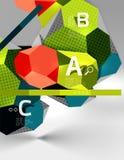 composition géométrique en hexagone 3d, fond abstrait numérique géométrique Photos stock