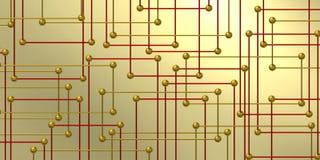 Composition géométrique et décorative moderne avec de l'or illustration stock