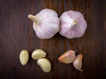 Composition with garlic Royalty Free Stock Image