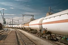 Composition with gas tanks royalty free stock photo