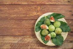 Composition gastronomique avec des figues photographie stock