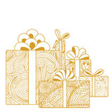 Composition of gift boxes Stock Photo