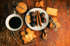 The composition of ginger biscuits, Stock Images