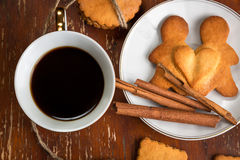 The composition of ginger biscuits, Royalty Free Stock Photos