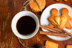 The composition of ginger biscuits, Royalty Free Stock Image