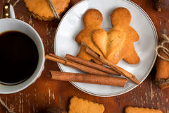 The composition of ginger biscuits, Royalty Free Stock Images