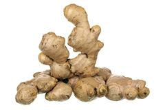 Composition of ginger root Stock Images
