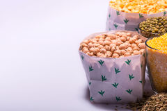 Composition of glasses with cereals Stock Photo