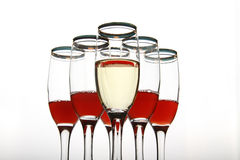 Composition from goblets Stock Photo