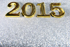 composition of golden numbers 2015 year Royalty Free Stock Photography