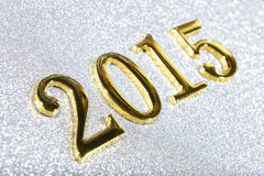 composition of golden numbers 2015 year Stock Photos