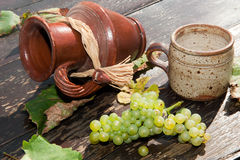 Composition with grape Stock Photography