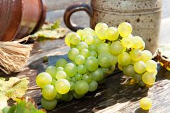 Composition with grape Royalty Free Stock Images