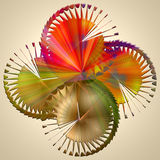 Composition graphique sans couture avec les éléments en spirale #2 illustration libre de droits