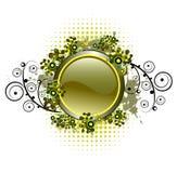 Composition grunge avec le bouton lustré Photo libre de droits