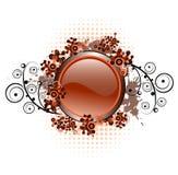 Composition grunge avec le bouton lustré Images stock