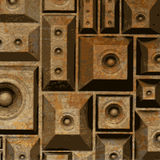 Composition grunge old rusty speaker sound system Royalty Free Stock Photography