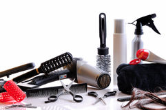 Composition hairdressing tools isolated Royalty Free Stock Photo