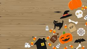 Composition of Halloween dessert stock images